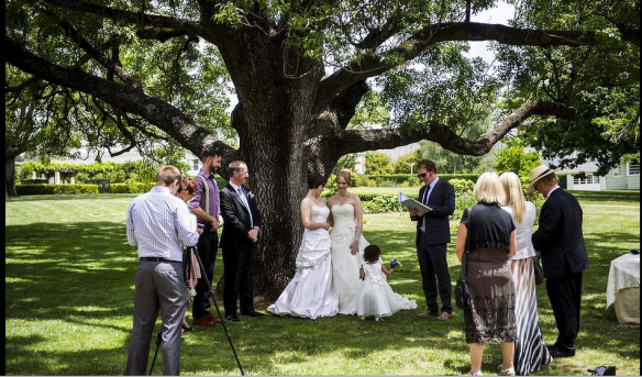 One of the First Same-sex marriages in the ACT -7-12-2013 performed by Civil Celebrants. (Photo from The Age Gallery.)