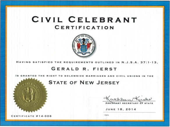 Civil Celebrants in New Jersey USA